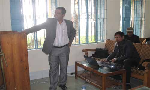 presentation of our site in front of our honorable joint secretary Md. Aminul Islam Khan
